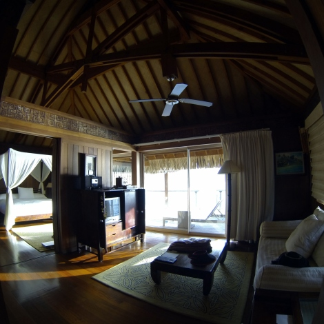 A fish-eyed shot of the bungalow 127
