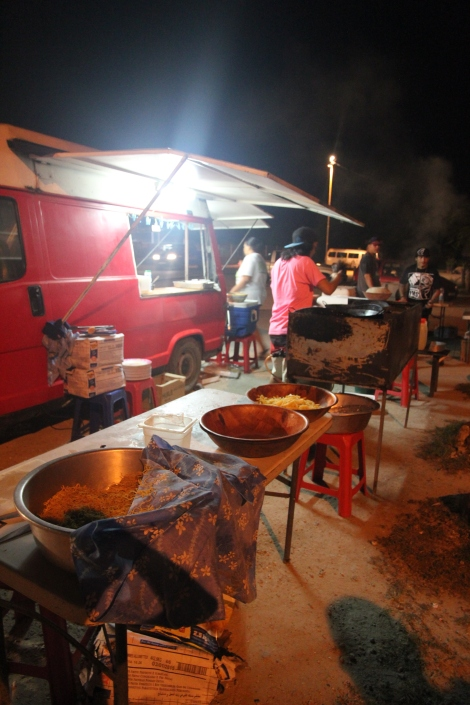 Roulottes, the French Polynesian version of a food truck, are where the locals go to get their daily meal fix.