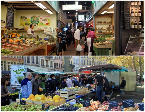A tale of two markets--Les Halles at the top, and Saint Antoine beneath.