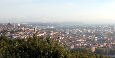 The view of Croix-Rousse from Fouviere Hill