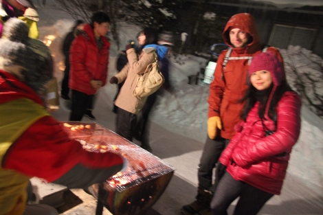 Hokkaido is also known for its potatoes, grilled with butter churned from happy Hokkaido cows.